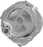 Kawasaki ZX14 (06-10) Triple Chrome Clutch Cover with Window (Product Code #CCK201CH-2T