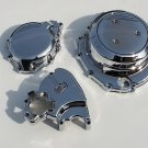 08-12 hayabusa chrome covers set sprocket.clutch.&stator covers