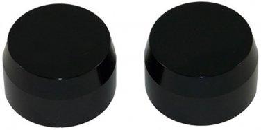 KAWASAKI ZX14 (06) ANODIZED BLACK FORK CAPS PART # A3058AB)