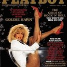 Playboy Magazine January 1985 Goldie Hawn Holiday Anniversary Issue