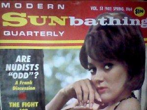 Modern Sunbathing magazine.Quarterly,spring 1968