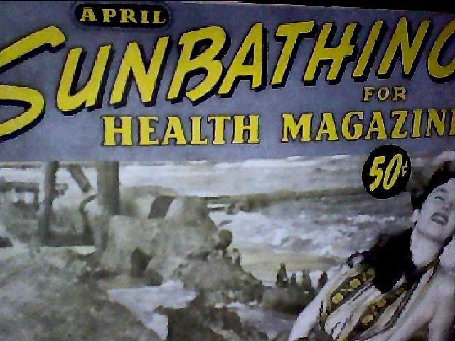 Sunbathing for health magazine. April, 1958