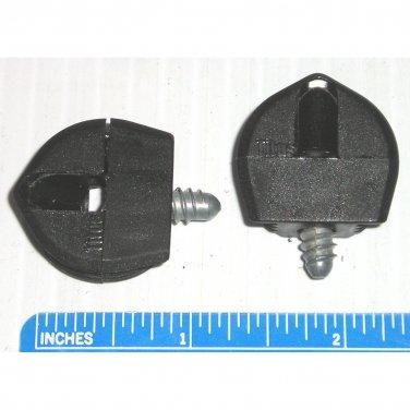 Titus Flushbloc Black Assembly Face Boring Fasteners Furniture Connectors 25mm Diameter (Set of 2)