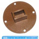 "3"" Round Plastic Rear Drawer Track Support Plate Brown Fits Kenlin"