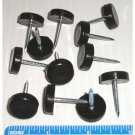 """3/4"""" Black Plastic Flat Tack Floor Glide for Chair, Table and Furniture Legs"""