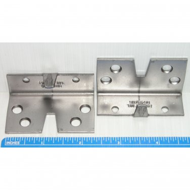 "Steel Bed Slat Mounting Brackets 1-3/8"" x 2-3/8"" x 1"""