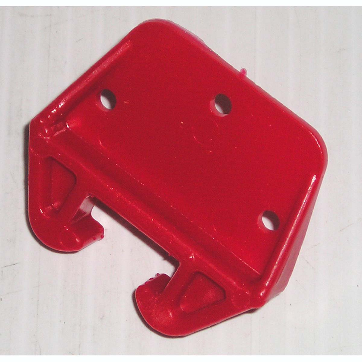 "Red Plastic Drawer Slide Guide for 3/4"" x 5/16"" Track, 1-1/2""W x 1-3/4""H"