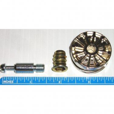 35mm Cam Disc Lock Furniture Connector Kit- 8mm x 28.5mm Dowel + Threaded Insert