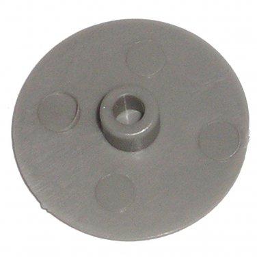 18mm Gray Round Flat Plastic Screw Cap Dress Covers (20 Pack) 4.3mm Round Post