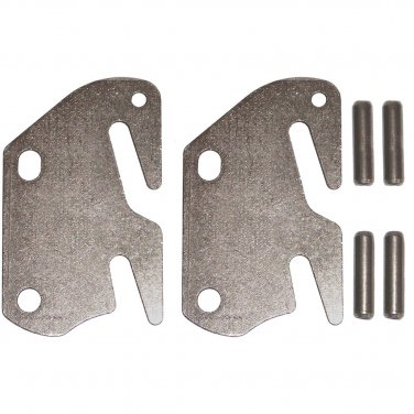 Wood Bed Rail Double Hook Plate Replacement End & Pins - 2 Pack For ...