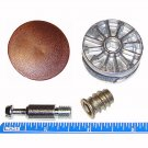 35mm Cam Disc Lock Furniture Connector Kit- 8mm x 28.5mm Dowel With Brown Cover