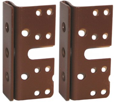 """Headboard / Bed Post Brackets - 2 Pack - For Double Hook Bed Plate and Rails 3-3/4"""" x 1-3/4"""""""