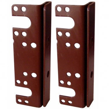 """Headboard / Bed Post Bracket For Double Hook Bed Plate and Rails 6"""" x 1-3/4"""" (2 Pack)"""