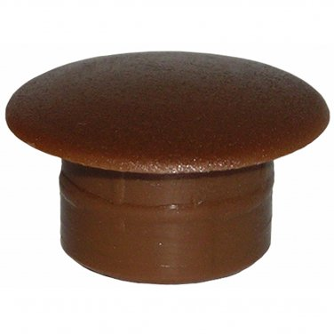 12mm x 8mm x 18mm Brown Plastic Hole Filler Cover Caps (20 Pack)