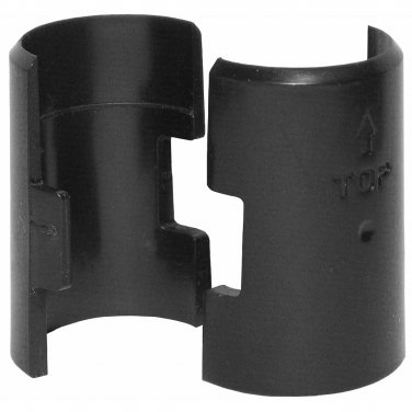 """Wire Shelf Locking Clips - Black Tapered Plastic for 1"""" Tube 16 Clips"""