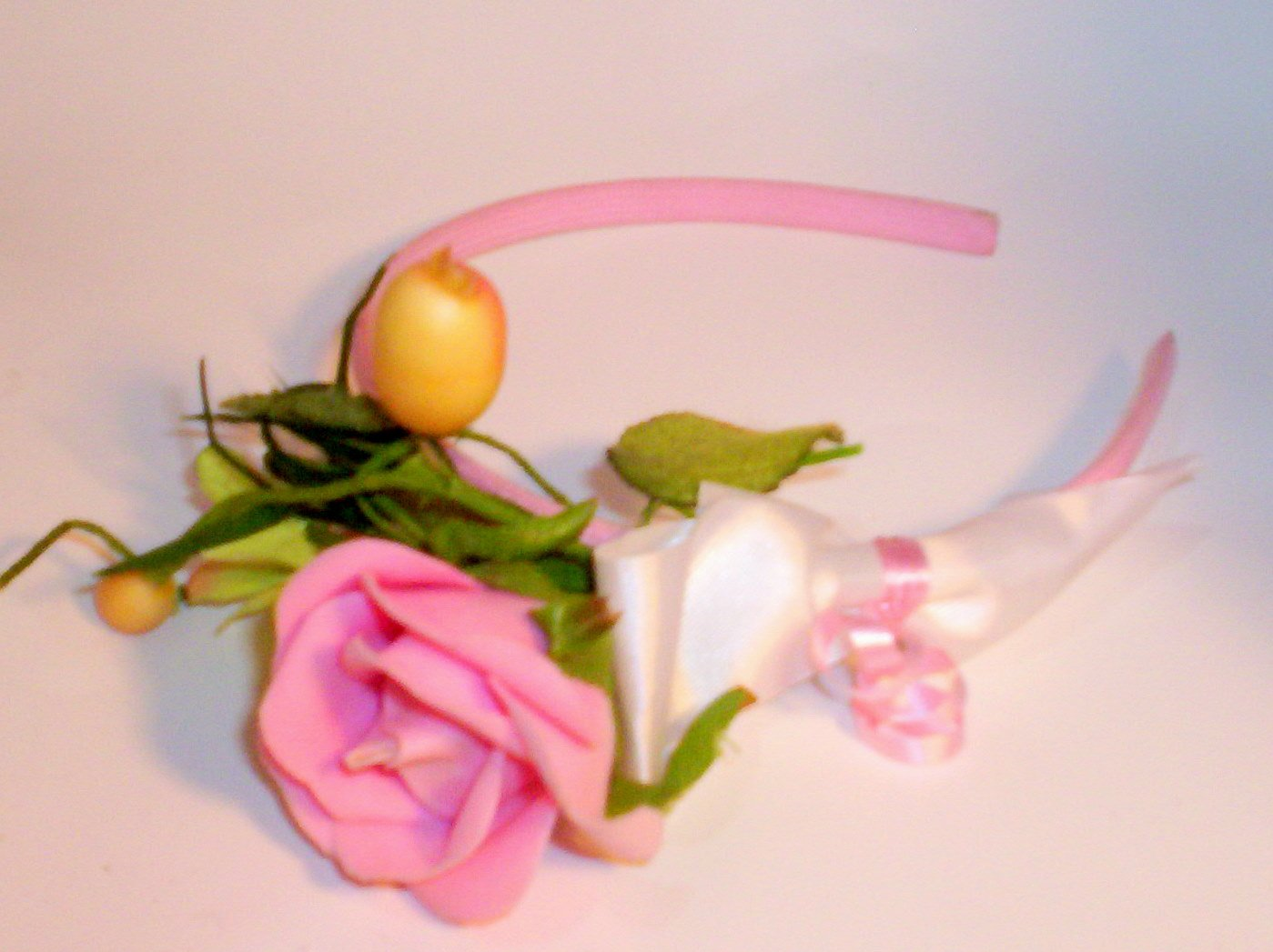 Spring Rose Bow Headband