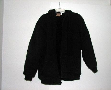 Brand New Karizma Solid Black Zip Up Hoodie Jacket Coat Large Unisex