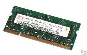 Computer Laptop Parts 512MB - (2) 256MB PC2-5300 Random Access Memory Ram HP DV6000