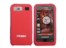 New Red Samsung Cell Phone Accessory i910 Silicon Skin Protector Mobo USA