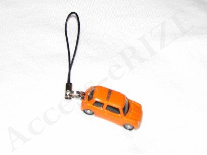 New Orange Miniature Car Cell Phone Accessory Charm Fingerstrap Camera iPod iPhone iPad MP3