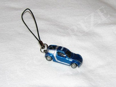 New Blue Mini Miniature Car Cell Phone Accessory Charm Fingerstrap Camera iPod iPhone iPad MP3