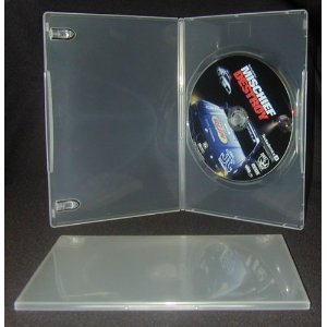10 Slim Thin 7mm Clear Single DVD Empty Replacement Boxes Blank Protective Storage Cases