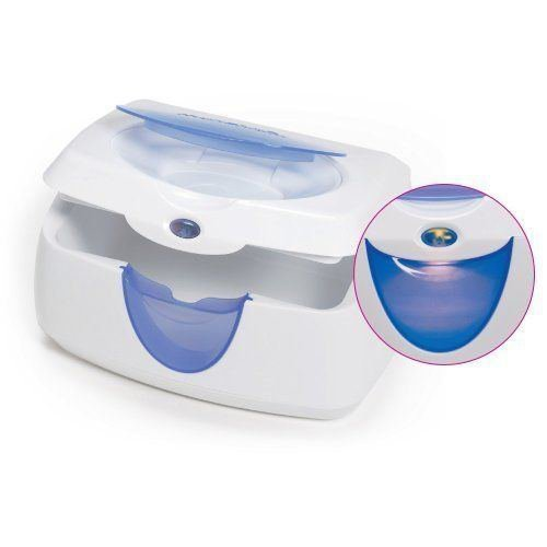 Munchkin Warm Glow Baby Wipe Wet Ones Diaper Changing Warmer Blue Pre-owned