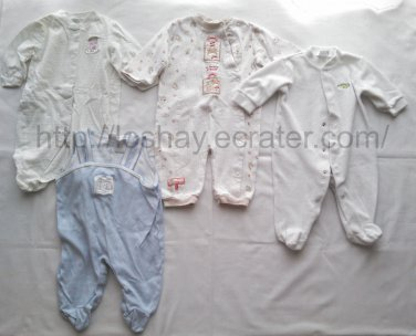 baby boy clothes lot 6 9 months oneies footies sleepers circo baby