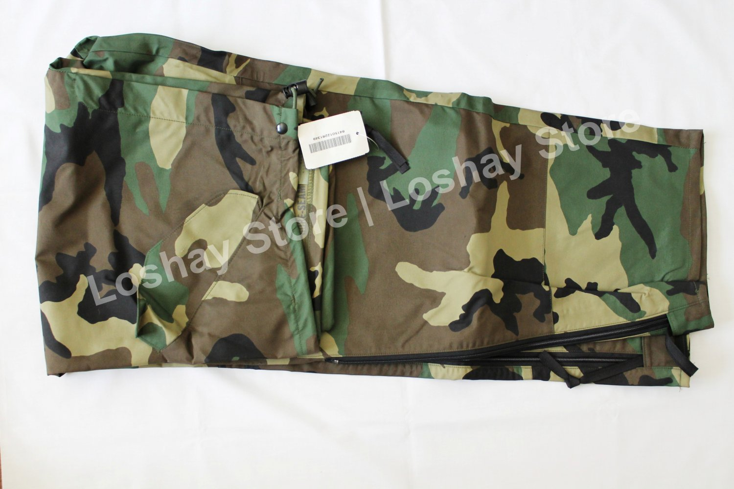 US Military TROUSERS EXTENDED COLD WEATHER CAMOUFLAGE Large Regular Woodland Pants WaterProof