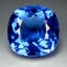 17.70ct.AWESOME BLUE TANZANITE COLOR QUARTZ LOOSE GEMSTONE CUSHION