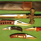 Lot 3 , 5 Pc Knife set,