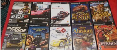 10 PlayStation 2 Used Game lot B,