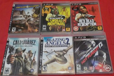 Playstation 3 Used 6 Game lot A