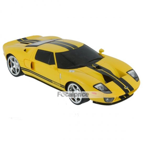 XQRC18-3AA 1/18 Mini R/C Radio Control Model Ford GT Car (Yellow)