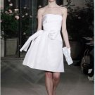 Tea-Length Straight Neckline Strapless Wedding Dress Bridal Gown Evening Dress