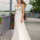 A-line Deep V-Neckline Custom Made Wedding Dress Bridal Gown