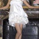 Sexy Hot Mini Spaghetti Strap Custom Made Wedding Dress Bridal Gown