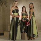A-line Straight Neckline Taffeta Bridesmaid Dress/Evening Dress/Home Coming