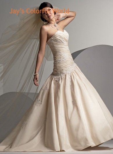 Ball Sweetheart Neckline Strapless Wedding Dress Bridal Gown