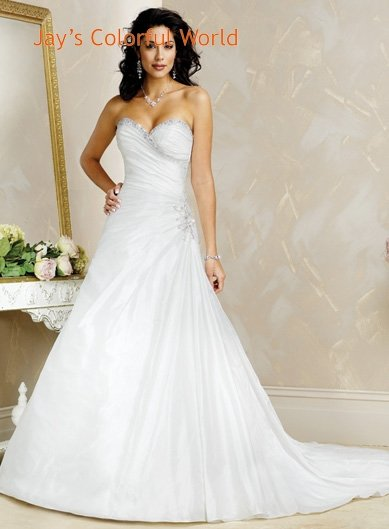 Sexy V-neckline Strapless Lace-up Wedding Dress Bridal Gown