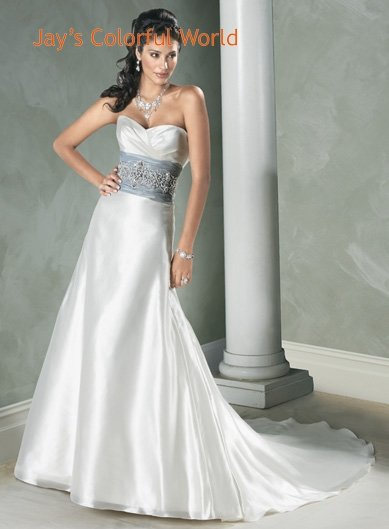 Sweetheart Neckline Strapless Beading Wedding Dress Bridal Gown