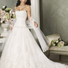 Spaghetti Strap Appliques Organza  Wedding Dress Bridal Gown