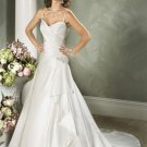Custom made Spaghetti Strap Taffeta Wedding Dress Bridal Gown