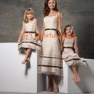 Tea-length Organza Custom-made Bridesmaid Dress/Evening Dress/Home Coming