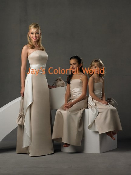White/Ivory/Champagne Custom-made Bridesmaid Dress/Evening Dress/Home Coming