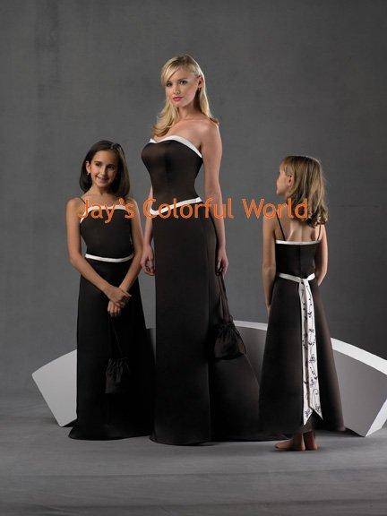Black Custom-made Bridesmaid Dress/Evening Dress/Home Coming