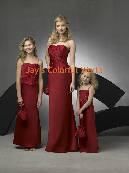 Burgundy Sheath Sweetheart Neckline Beaded Bridesmaid Dress/Evening Dress/Home Coming