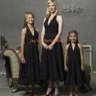 Black Tea-length Halter Strap Chiffon Custom-made Bridesmaid Dress/Evening Dress/Home Coming