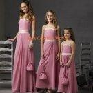 A-line Strapless or Spaghetti Strap Custom-made Bridesmaid Dress/Evening Dress/Home Coming