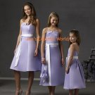 Lavender Tea-length Custom-made Bridesmaid Dress/Evening Dress/Home Coming